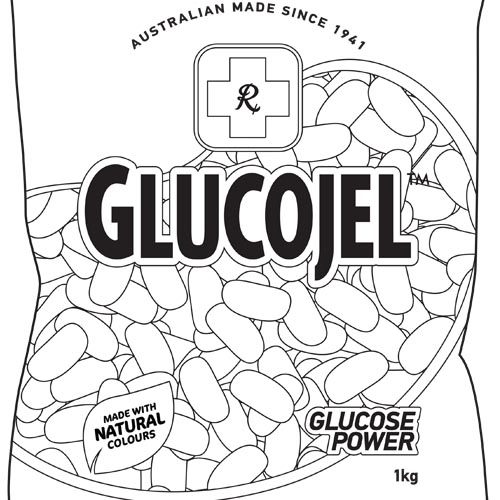 Glucojel Packet Colouring In
